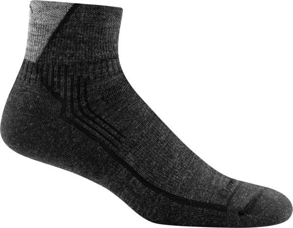Darn Tough Men's Hiker Quarter Sock Cushion BLACK