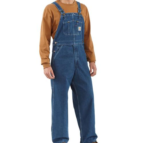 Carhartt Men's Washed Denim Bib Overall Unlined