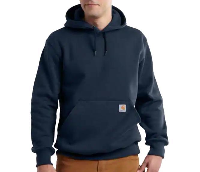 Carhartt Men's Rain Defender Paxton Hooded Heavyweight Sweatshirt NEWNAVY