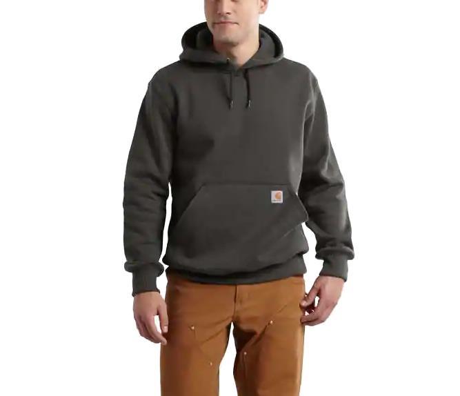 Carhartt Men's Rain Defender Paxton Hooded Heavyweight Sweatshirt PEAT