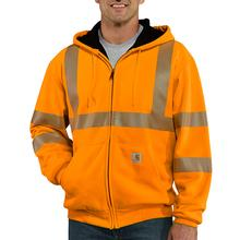 Carhartt Men's High-Visibility Zip Front Class 3 Thermal Lined Sweatshirt BRIGHT_ORANGE