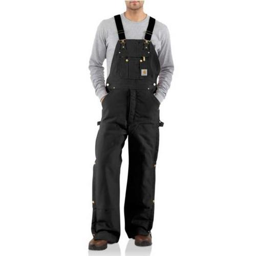 Carhartt Men's Duck Zip-to-Thigh Bib Overall/Quilt Lined