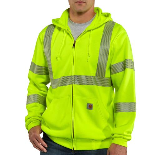 Carhartt Men's High-Visibility Zip-Front Class 3 Sweatshirt