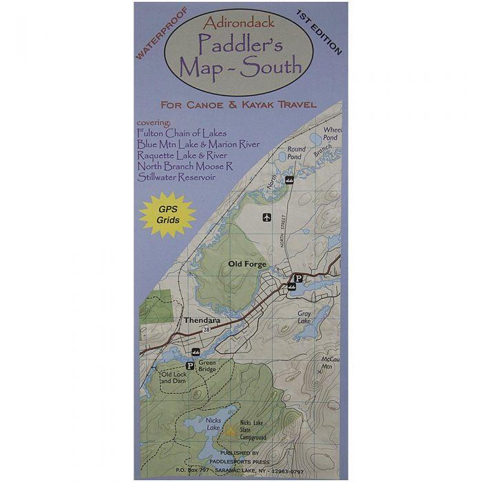 Paddlesports Press North Adirondack Paddler's Map
