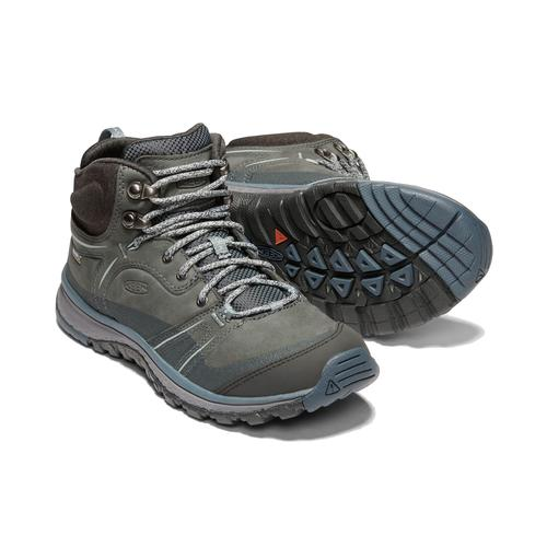 Keen Women's Terradora Leather Waterproof Mid Hiking Boot - Tarragon