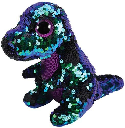 TY Flippables Crunch the T-Rex 10in Sequin Plush