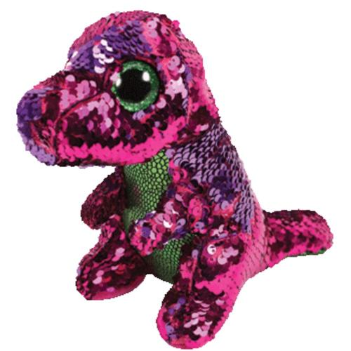 TY Flippables Stompy the T-Rex 10in Sequin Plush