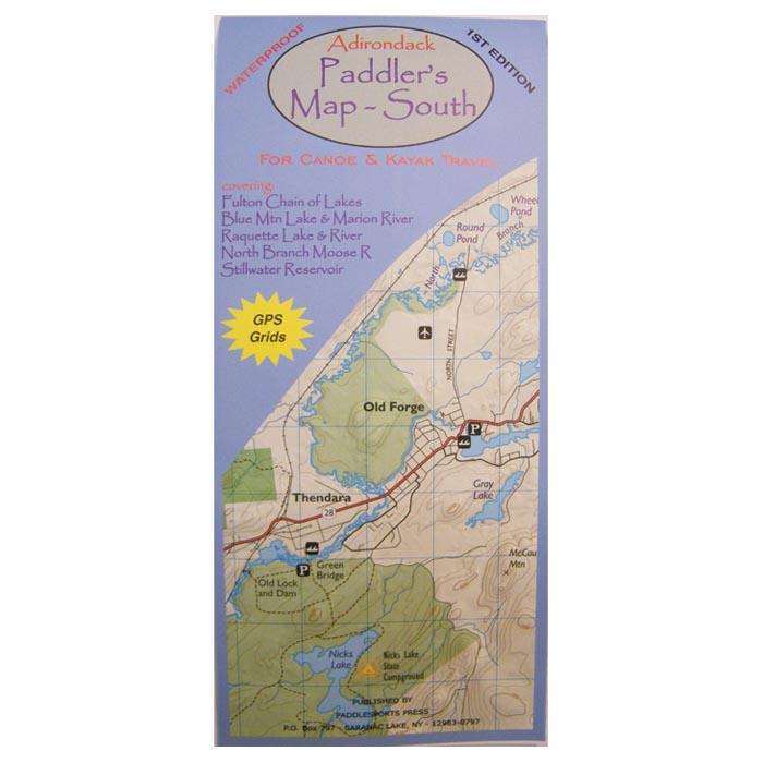 Adirondack Paddler's Map South