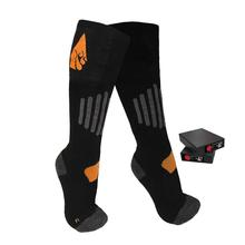 Actionheat 3.7V Rechargeable Battery Heated Wool Socks BLACK