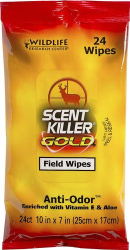 Wildlife Research Center Scent Killer Gold Field Wipes