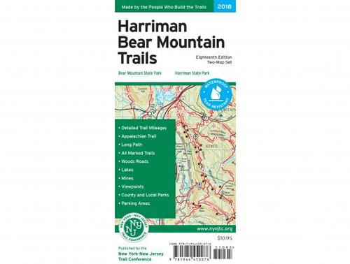 NY/NJ Trail Conference Harriman-Bear Mountain Trails Map