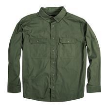 Berne Men's Long Sleeve Ripstop Work Shirt MOSS_GREEN