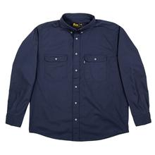 Berne Men's Long Sleeve Ripstop Work Shirt NAVY