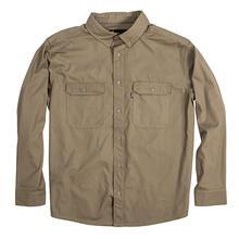 Berne Men's Long Sleeve Ripstop Work Shirt PUTTY