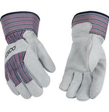 Kinco Suede Cowhide Palm Gloves With Safety Cuff GREY