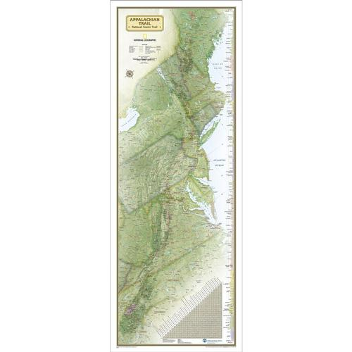 National Geographic Appalachian Trail Laminated Wall Map