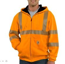 Carhartt Men's High-Visibility Zip-Front Class 3 Thermal Lined Sweatshirt BRIGHT_ORANGE