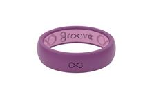 Groove Thin Silicone Ring LILAC