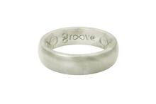 Groove Thin Silicone Ring PEARL