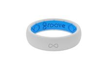 Groove Thin Silicone Ring SNOW