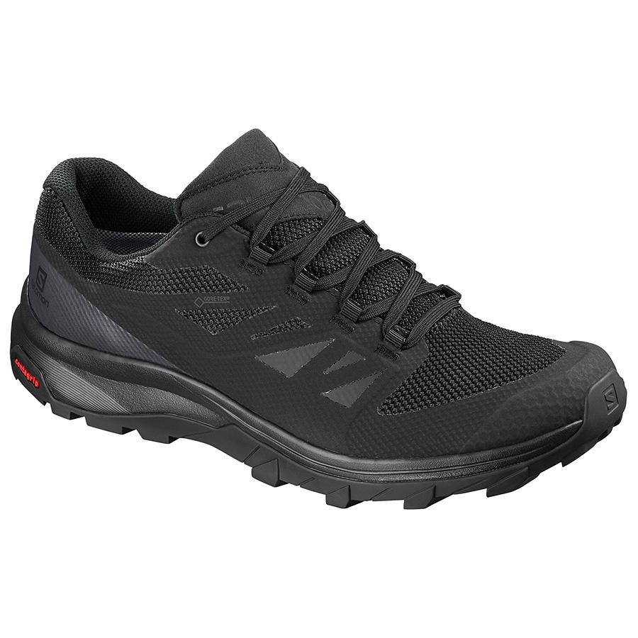Salomon Men's Ouline GTX Hiking Shoe BLACK
