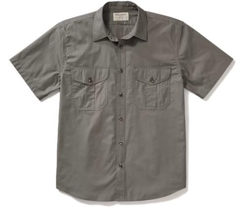 Filson Men's Feather Cloth Short Sleeve Shirt