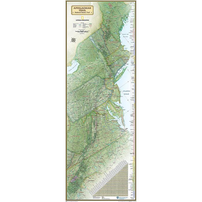 National Geographic Appalachian Trail Wall Map