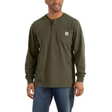 Carhartt Men's Workwear Long Sleeve Henley T Shirt ARMY_GREEN