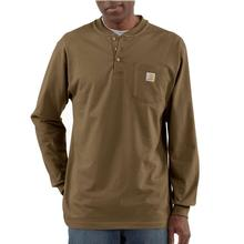 Carhartt Men's Workwear Long Sleeve Henley T Shirt BROWN_BOOT