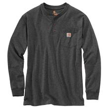 Carhartt Men's Workwear Long Sleeve Henley T Shirt CHARCOAL