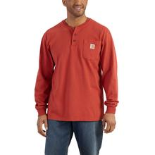 Carhartt Men's Workwear Long Sleeve Henley T Shirt CHILI