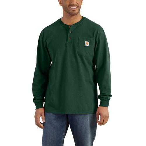 Carhartt Men's Workwear Long Sleeve Henley T Shirt