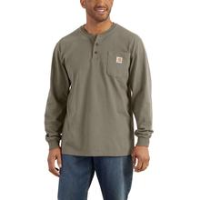 Carhartt Men's Workwear Long Sleeve Henley T Shirt DESERT
