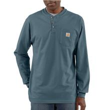 Carhartt Men's Workwear Long Sleeve Henley T Shirt MINERAL_BLUE
