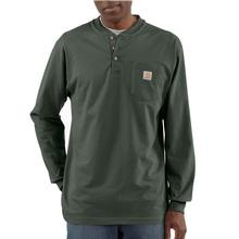 Carhartt Men's Workwear Long Sleeve Henley T Shirt OLIVE
