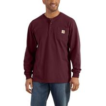 Carhartt Men's Workwear Long Sleeve Henley T Shirt PORT