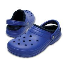 Crocs Classic Fuzz Lined Clog BLUE_JEAN