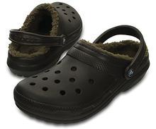 Crocs Classic Fuzz Lined Clog ESPRESSO