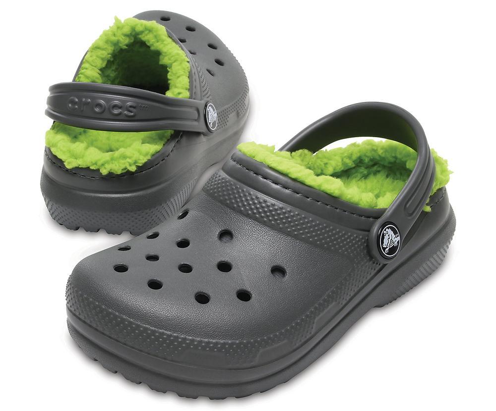 Crocs Kids ' Classic Fuzz- Lined Clog