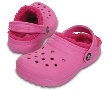 Crocs Kids' Classic Fuzz-Lined Clog PARTY_PINK