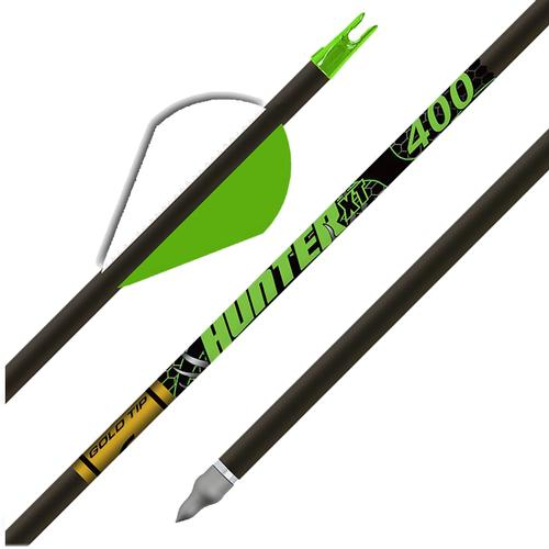 Gold Tip Hunter XT Arrows with Raptor Vanes Box of 6