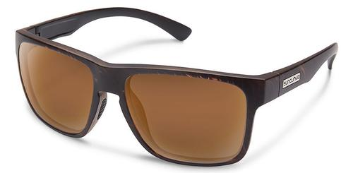 Suncloud Optics Rambler Blackened Tortoiseshell Sunglasses with Polar Brown Lens