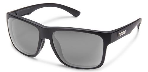 Suncloud Optics Rambler Matte Black Sunglasses with Polar Gray Lens