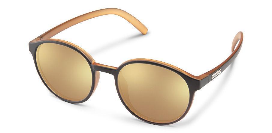 Suncloud Optics Low Key Black Honey Packpaint Sunglasses With Polar Sienna Mirror Lens