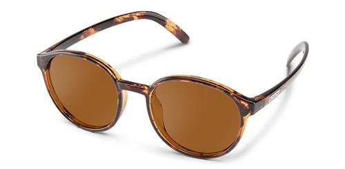 Suncloud Optics Low Key Tortoiseshell Sunglasses with Polar Brown Lens