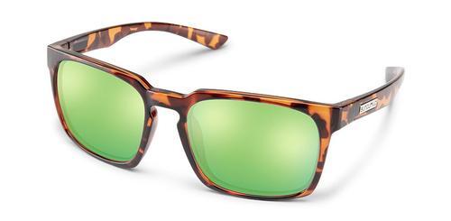Suncloud Optics Hundo Sunglasses Tortoiseshell with Polar Green Mirror Lens
