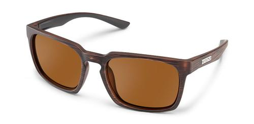 Suncloud Optics Hundo Sunglasses Burnished Brown with Polar Brown Lens