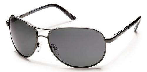 Suncloud Optics Aviator Sunglasses Gunmetal with Polar Grey Lens
