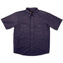 Berne Short Sleeve Ripstop Work Shirt BLUE