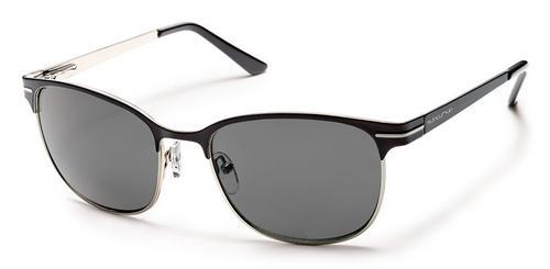 Suncloud Optics Causeway Sunglasses Black with Polar Grey Lens